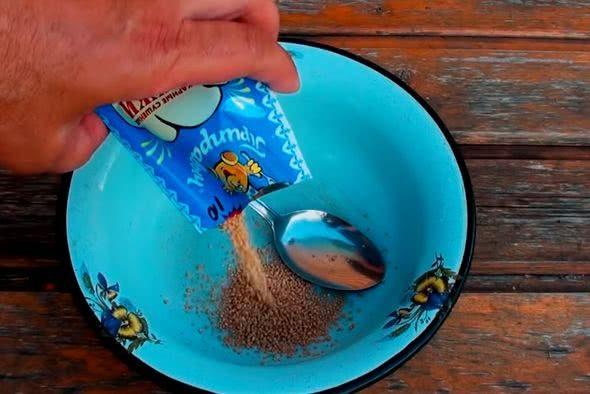 дрожжи залейте теплой водой