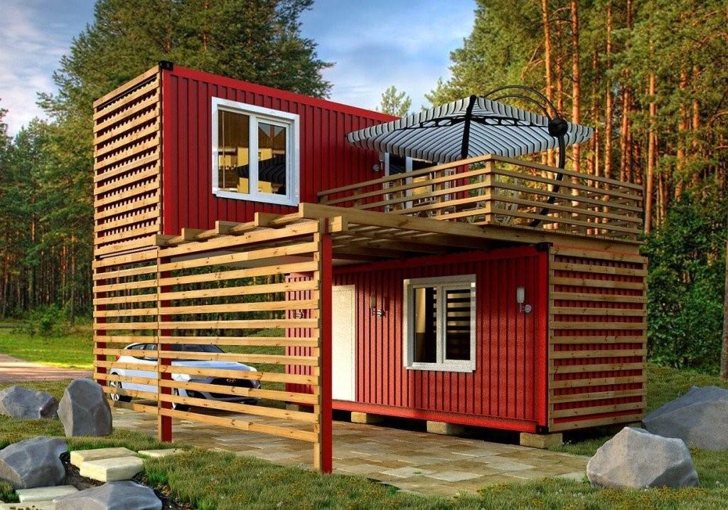 Оригинальный дизайн дачного домика